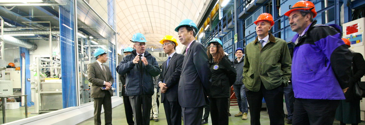 Li Ruiyu Ambassador of People's Republic of China (PRC) visited the Gran Sasso National Laboratory